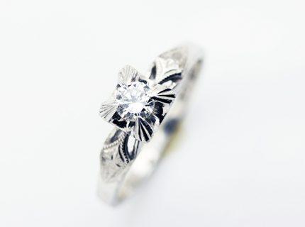 高さのあるダイアモンドリングを日常使いしやすいリングへ