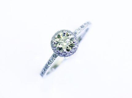 母の婚約リングを私のリングへ0.45ct